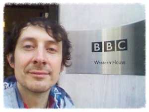 Joe at the BBC studios for his interview with Kerry Stewart from ABC in February 2015.